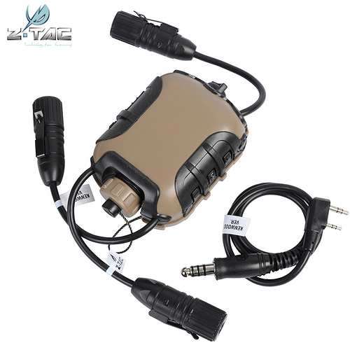 Airsoft-Element-Z-Tactical-Z118-Silynx-Z4OPS-PTT-Ver-1-For-Radio-Headset-Headphones-For-Tactical(5)